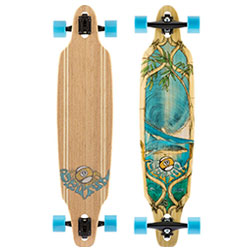 Sector 9 bamboo lookout drop throught longboard