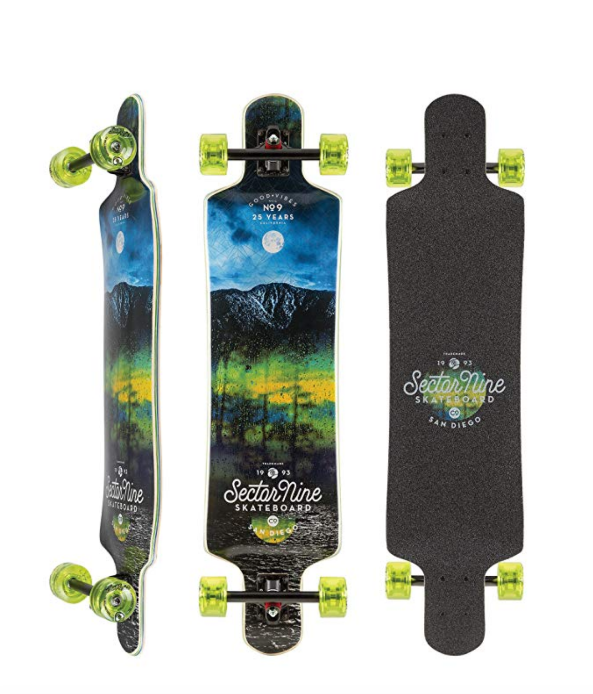 Sector 9 Midnight Fault Line 39 Inch Maple Top Mount Longboard for commuting