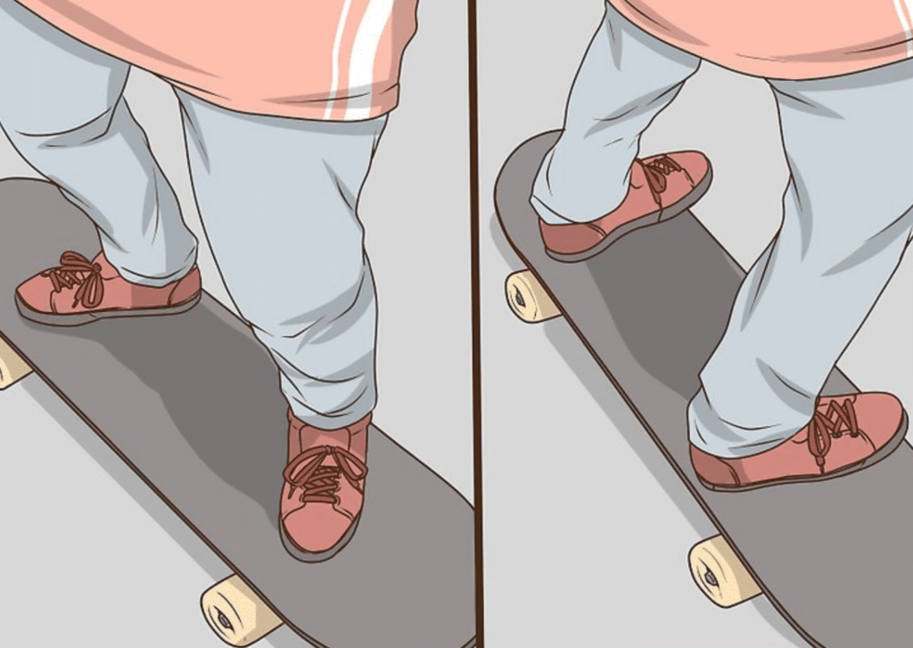 Skateboarding Tricks -How to Stand on a Skateboard