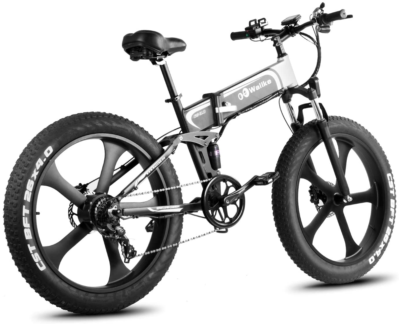 W Wallke Folding Aluminum Off Road Electric Bike